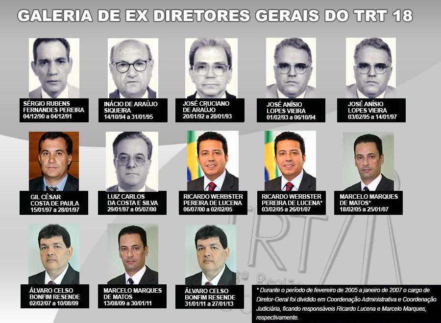 Galeria de ex-diretores-gerais do TRT18