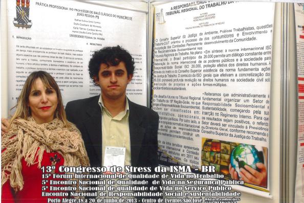 Hosana Lacerda e Pedro Paulo, da Comissão de Responsabilidade Socioambiental do TRT de Goiás