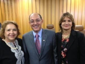 Desembargadora Elza Silveira, vice-coordenadora do Coleprecor e desembargador Ilson Pequeno Júnior, coordenador do Conselho