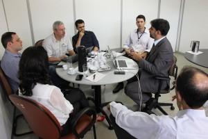Participaram da reunião também o coordenador de sistemas e internet Paulo Goiás do TRT, Gustavo Wagner da equipe técnica do CSJT e o analista de sistemas do MPT, Marco Arenhart