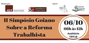 II Simpósio Goiano sobre a Reforma Trabalhista