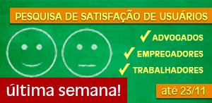 Pesquisa de Satisfação Usuários última semana