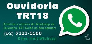 novo número whatsapp ouvidoria