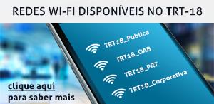 Redes wi-fi disponíveis no TRT-18