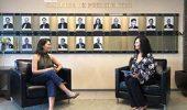 Imagem da entrevista de estúdio com a fisioterapeuta Juliana Guimarães